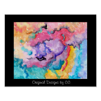 Original Abstract Colorful cloud designs Poster