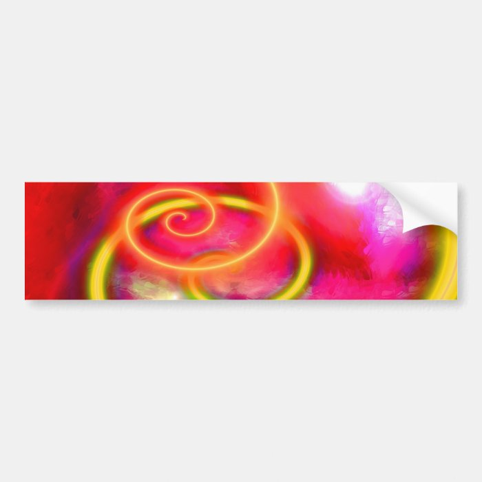 Original Abstract Digital Art Bumper Sticker