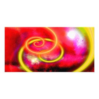 Original Abstract Digital Art Custom Photo Card
