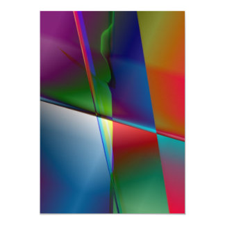 Original Abstract 5x7 Paper Invitation Card