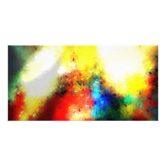 Original Abstract Painting Photo Card