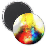 Original Abstract Painting Refrigerator Magnets