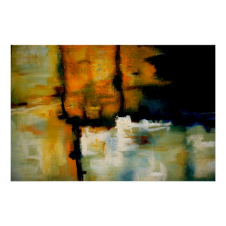 Original Abstract Poster Print - Expressionist Art