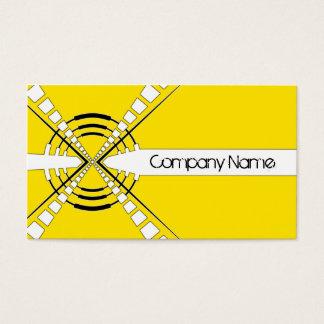 original abstract speaker design yellow business card