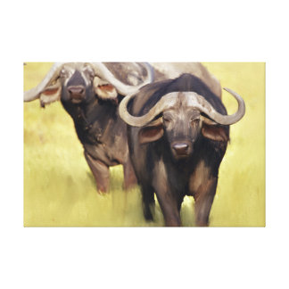 Original African Buffalo Canvas Print