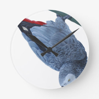 Original African grey parrot gifts Round Clock