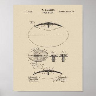 Original American Football Patent Print