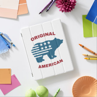 Original American | United States Typography Bear iPad Cover