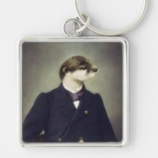 Original Art Otter Keychain