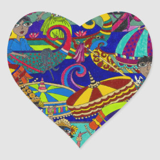 Original Art Products by Gwolly 'River festival' Stickers