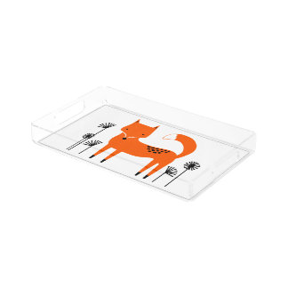 """Original art work"" Fred the Fox Acrylic Tray"