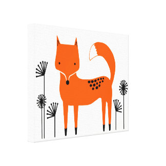 """Original art work"" Fred the Fox Canvas Print"