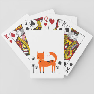 """Original art work"" Fred the Fox Playing Cards"