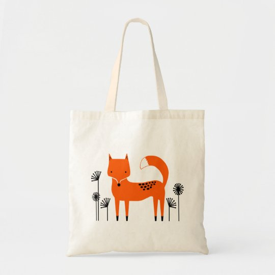 """Original art work"" Fred the Fox Tote Bag"