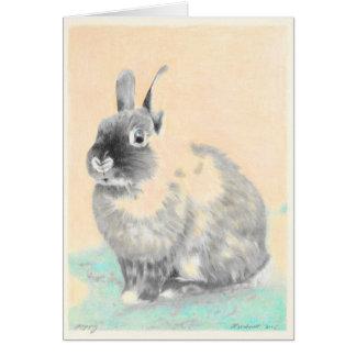 Original artwork bunny greeting card, Easter Greeting Card
