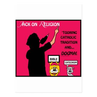 "Original Artwork from ""Jack On Religion"" Postcard"