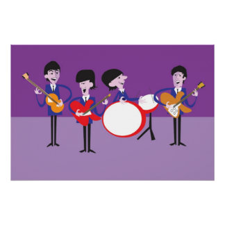 Original Artwork inspired by Fab Four Poster
