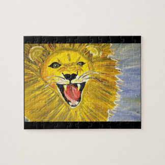 Original artwork lion puzzle