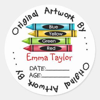 Original Artwork Stickers -Crayons