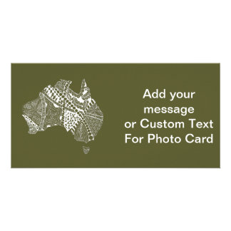 Original Australia Map Art - Choose Your Colour Photo Cards