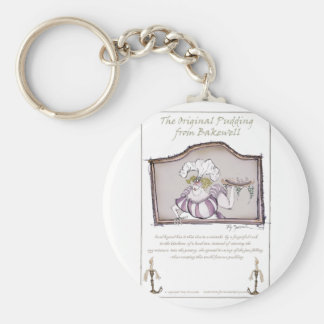 Original Bakewell Pudding, tony fernandes.tif Basic Round Button Key Ring
