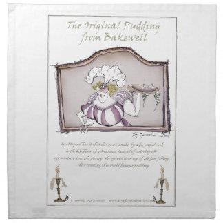 Original Bakewell Pudding, tony fernandes.tif Napkins