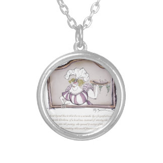 Original Bakewell Pudding, tony fernandes.tif Round Pendant Necklace