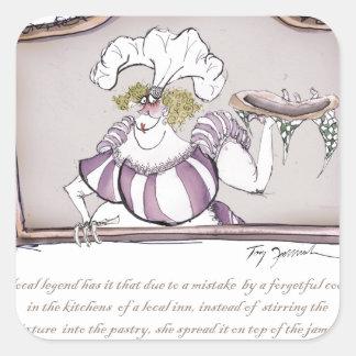 Original Bakewell Pudding, tony fernandes.tif Square Sticker
