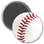 Original baseball ball 7.5 cm round magnet