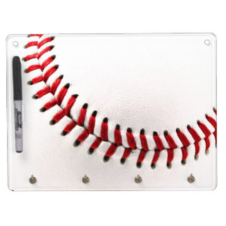Original baseball ball dry erase board with key ring holder