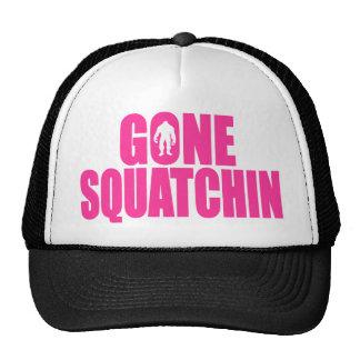 Original Best-Selling Bobo s GONE SQUATCHIN Pink Trucker Hats