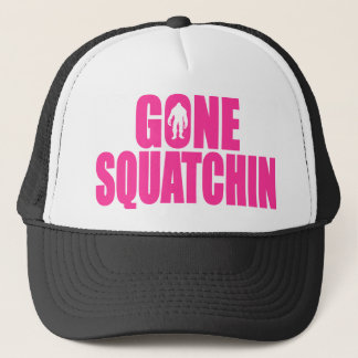 Original & Best-Selling Bobo's GONE SQUATCHIN Pink Trucker Hat