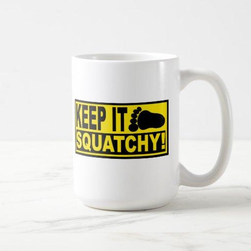 Original & Best-Selling Bobo's KEEP IT SQUATCHY! Mug