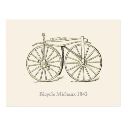 Original Bicycle Michaux 1842, French Postcards