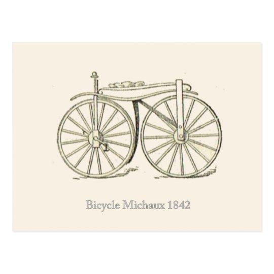 Original Bicycle Michaux 1842, French Postcard