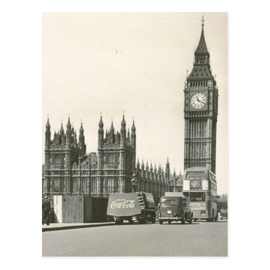 Original Big ben 1953 photo Postcard