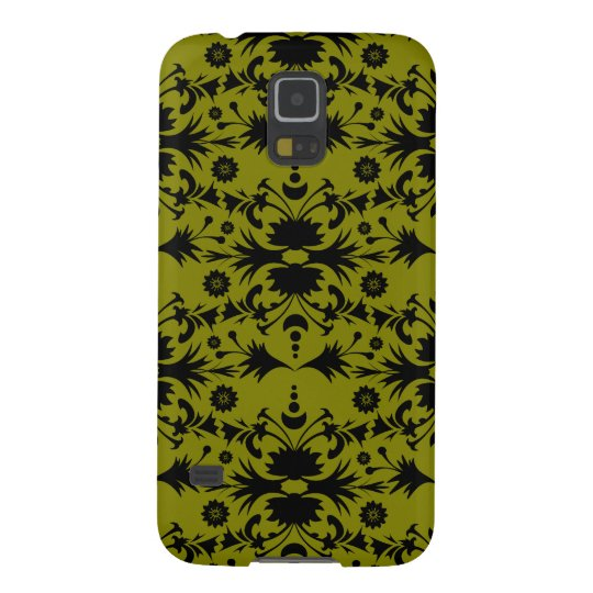 Original Black on Gold Olive Green Pattern Galaxy S5 Cases