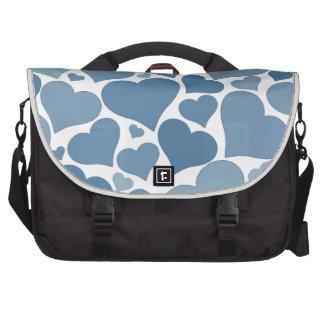 Original blue heart design - love, wedding, civil laptop shoulder bag