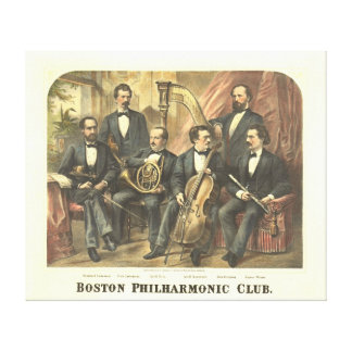 Original Boston Philharmonic Club 1875 Stretched Canvas Prints