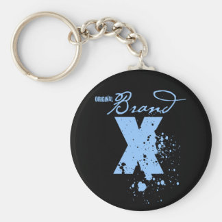 Original Brand X Logo (blue) Key Chain
