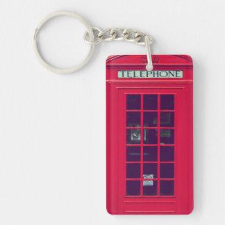 Original british phone box Single-Sided rectangular acrylic key ring