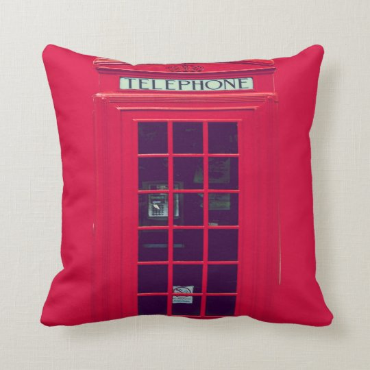 Original british phone box throw pillow