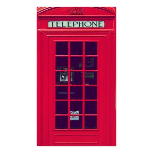 Original british red phone box business card template