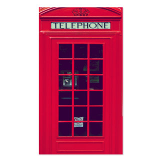 Original british red phone box pack of standard business cards