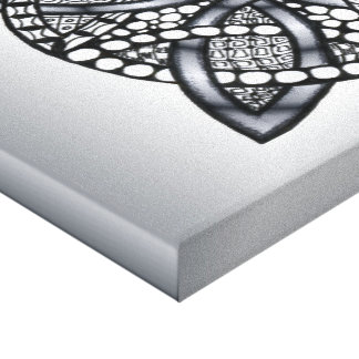 Original Celtic Knot Silver Black Canvas Print