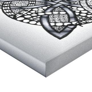 Original Celtic Knot Silver Black Stretched Canvas Prints