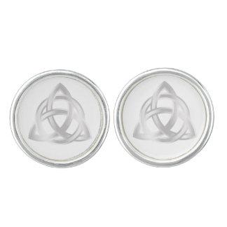 Original Celtic Triquetra Knot silver icon Cufflinks