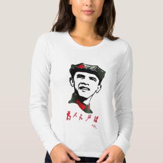 Original Chairman Oba Mao Women's Fitted Long Slee T-Shirt