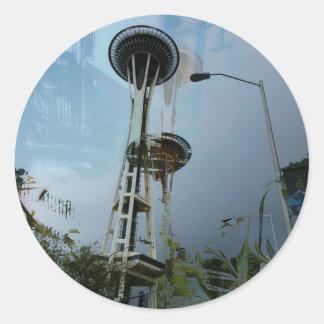 Original Chaos Tropic Needle Large Round Sticker