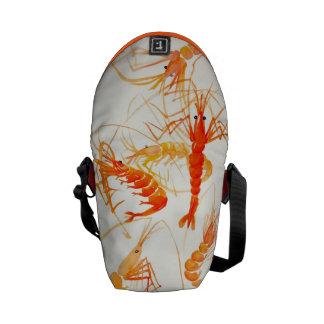 Original Chinese watercolor print of shrimp Courier Bag